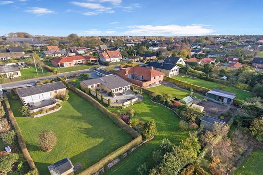 Villa på Vibevej i Ryomgård - Luftfoto
