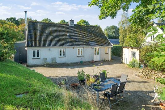 Villa på Glamhøjvej i Brabrand - Set fra haven