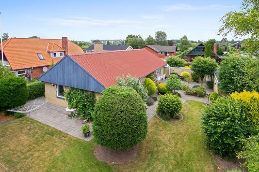 Villa på Julivej i Aarhus V - Set fra haven