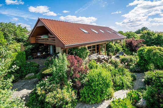 Villa på Klokkerbakken i Aarhus V - Set fra haven