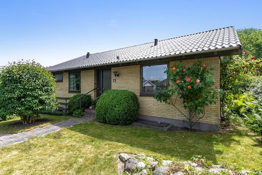 Villa på Oktobervej i Aarhus V - Set fra haven