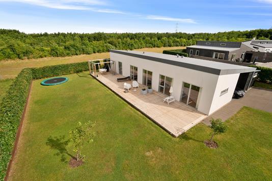 Villa på Porskær i Brabrand - Set fra haven