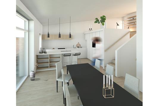 Villa på Elverhøjen i Hadsten - Køkken alrum