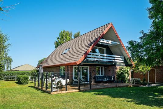 Villa på Gårdtoften i Lille Skensved - Set fra haven