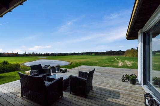 Villa på Elmevænget i Lille Skensved - Terrasse