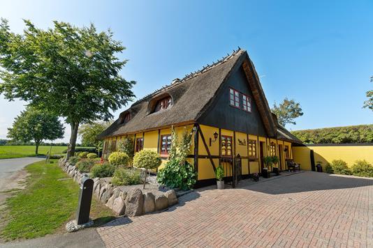 Villa på Lundevej i Hårlev - Set fra haven