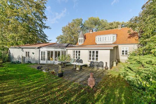 Villa på Bjælkerupvej i Klippinge - Set fra haven