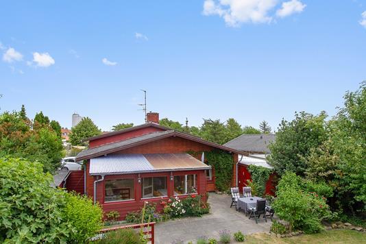 Villa på Morbærstien i Rønne - Set fra vejen