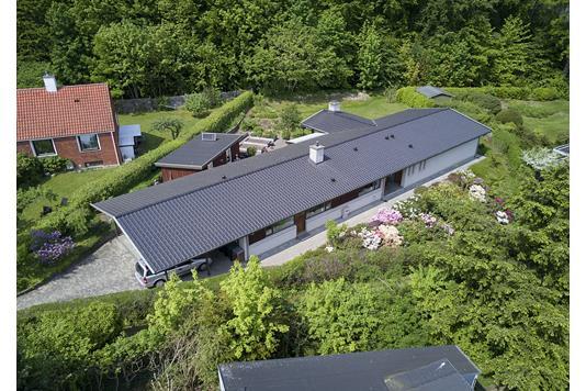 Villa på Skovbrynet i Bagsværd - Luftfoto