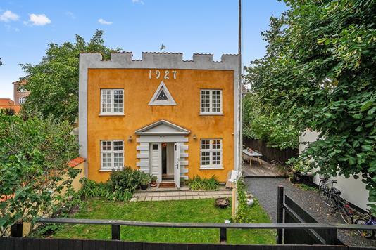 Villa på Lundegade i Helsingør - Set fra haven