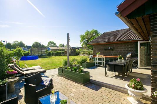 Villa på Bygvænget i Kokkedal - Terrasse