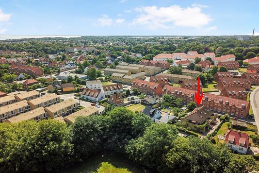 Ejerlejlighed på Belvederevej i Helsingør - Luftfoto