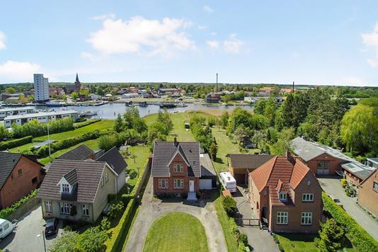 Villa på Orebyvej i Sakskøbing - Luftfoto