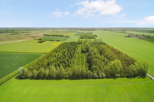 Helårsgrund på Langs Vejlevej i Rødby - Luftfoto