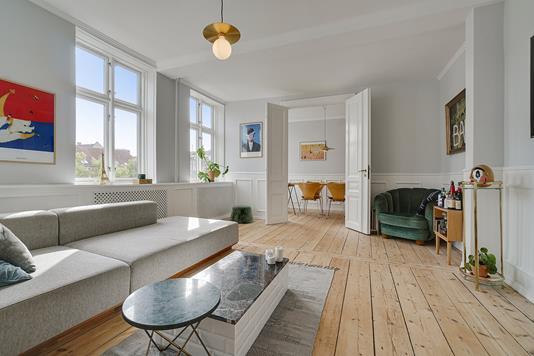 Ejerlejlighed på Prinsesse Charlottes Gade i København N - Stue