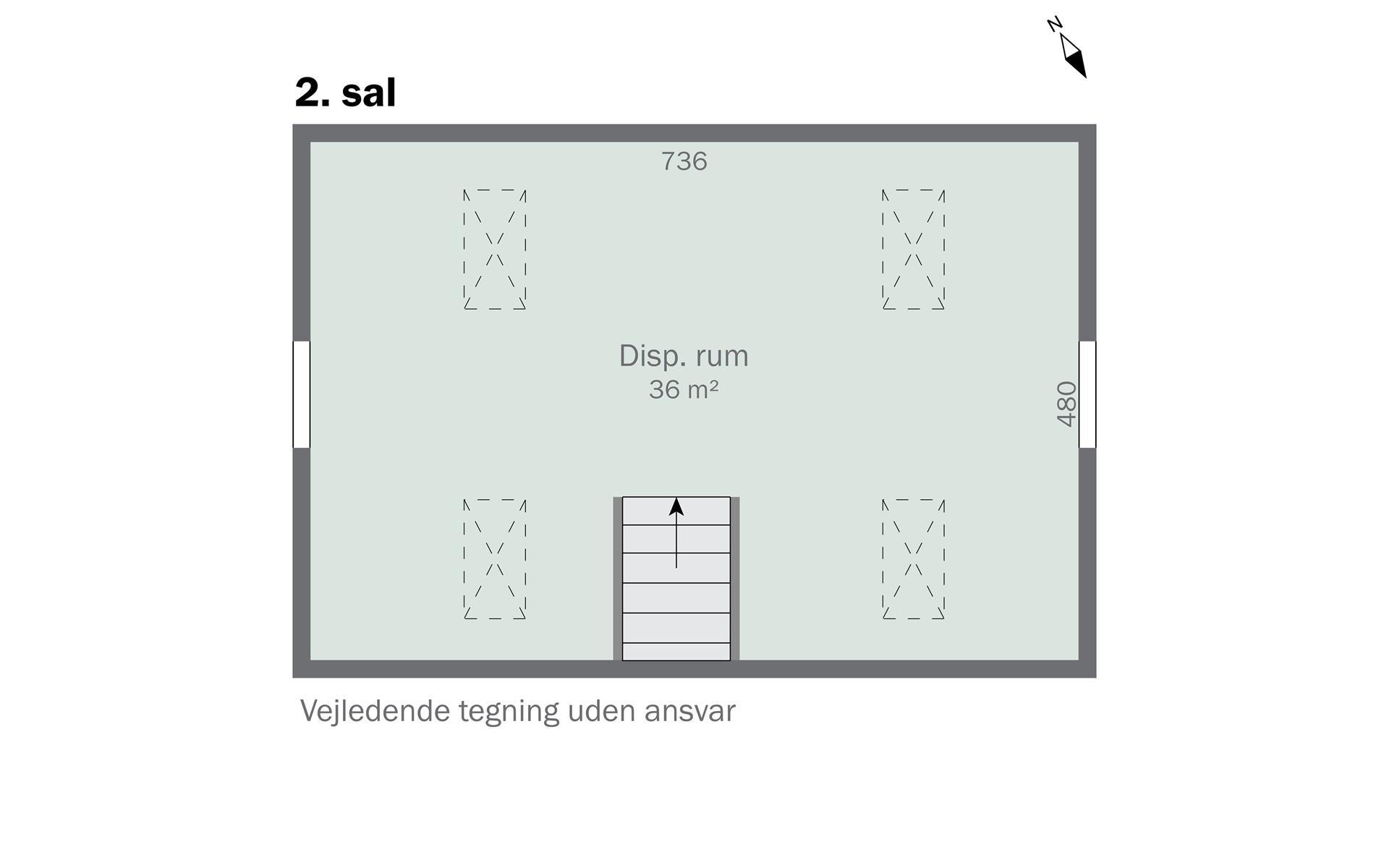 Villalejlighed på Alperosevej i København S - 2. sal