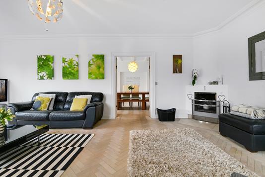 Villa på Eivindsvej i Charlottenlund - Stue