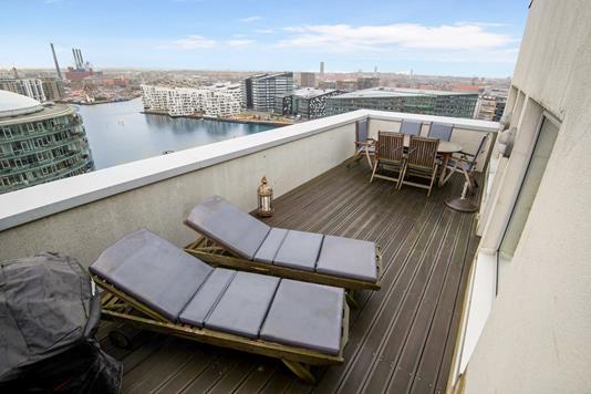 Ejerlejlighed på Islands Brygge i København S - Altan