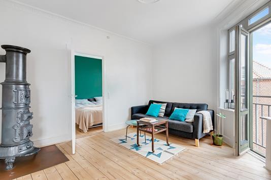 Ejerlejlighed på Søllerødgade i København N - Stue