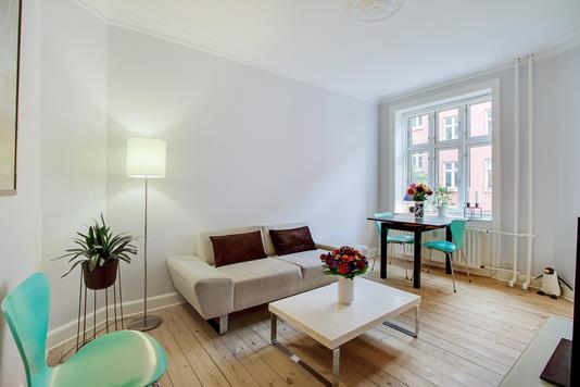 Ejerlejlighed på Esromgade i København N - Stue