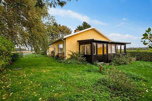 Villa på Kissendrupvej i Faxe - Set fra haven