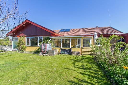 Villa på Kornagervej i Faxe - Set fra haven