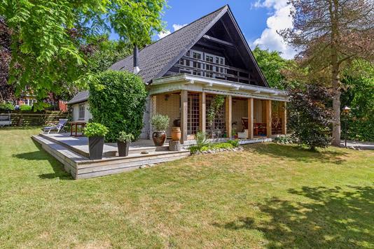 Villa på Duevej i Faxe - Set fra haven