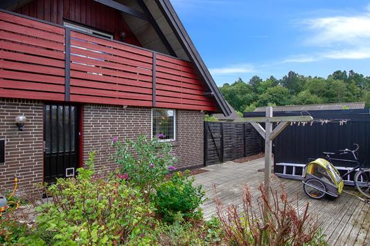 Villa på Jernvænget i Hårlev - Indgangsparti