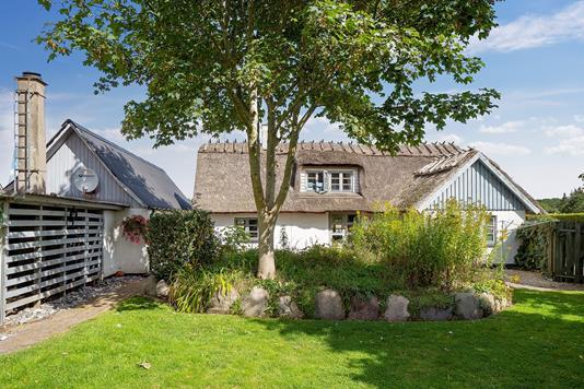 Villa på Viverupvej i Faxe - Set fra haven