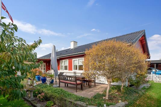 Villa på Hemmingsvej i Karise - Overdækket terrasse