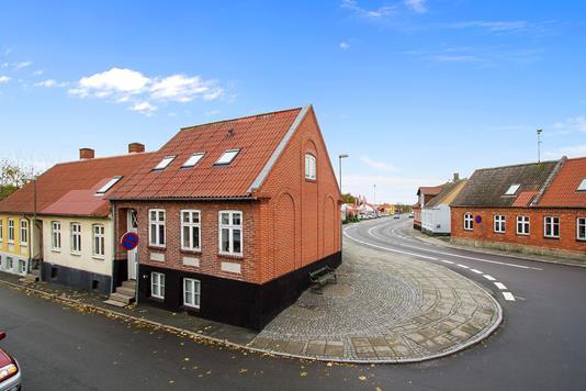 Rækkehus på Møllevej i Aakirkeby - Facade