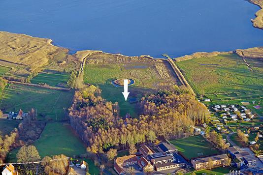 Landejendom på Krogvejen i Vipperød - Luftfoto