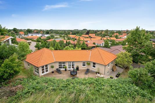 Villa på Gartnervænget i Nykøbing Sj - Set fra haven