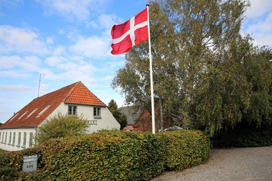 Landejendom på Bogensevej i Odense N - Forhave