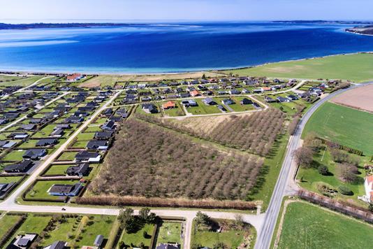 Fritidsgrund på Mejsevej i Faaborg - Luftfoto