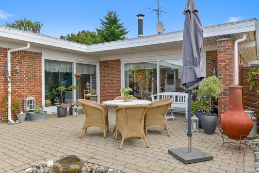 Villa på Bygvænget i Silkeborg - Terrasse