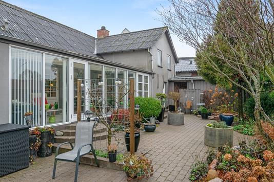 Villa på Silkeborgvej i Them - Terrasse
