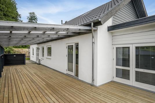Villa på Hovedgaden i Bryrup - Terrasse