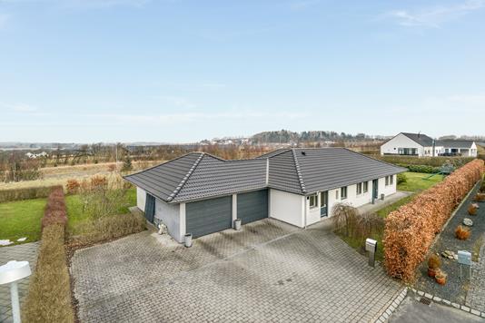 Villa på Buskelundhøjen i Silkeborg - Mastefoto