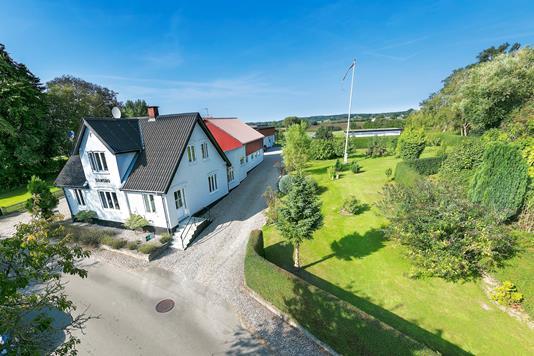 Landejendom på Stoense Udflyttervej i Tranekær - Luftfoto