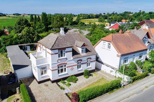 Villa på Jens Winthers Vej i Rudkøbing - Luftfoto