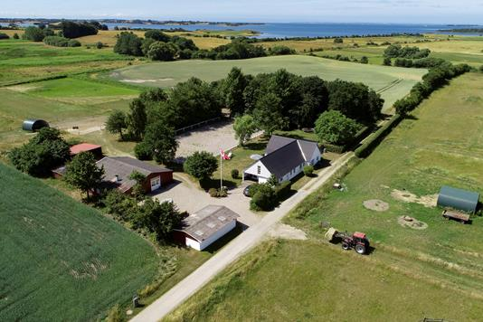 Landejendom på Vesterby Mark i Rudkøbing - Luftfoto