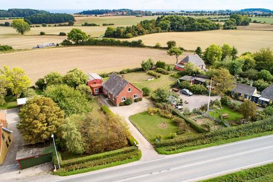 Villa på Snødevej i Tranekær - Luftfoto