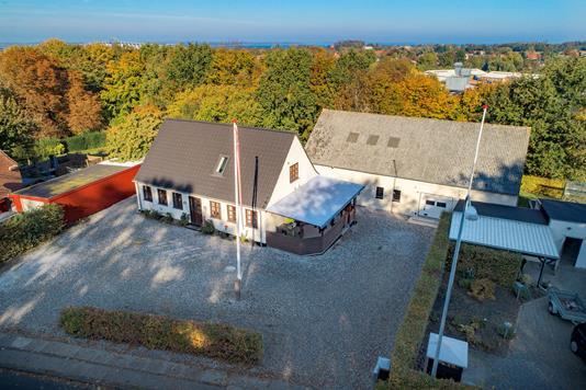Villa på Spodsbjergvej i Rudkøbing - Luftfoto