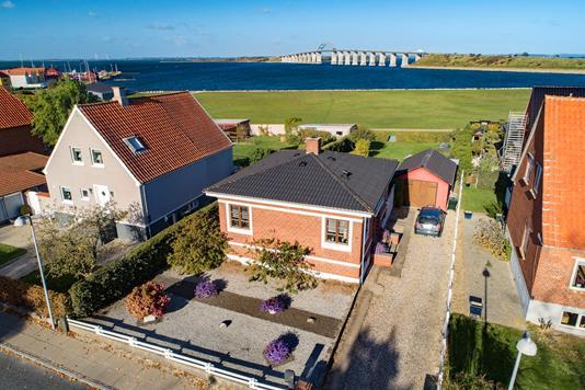 Villa på Strandløkken i Rudkøbing - Luftfoto