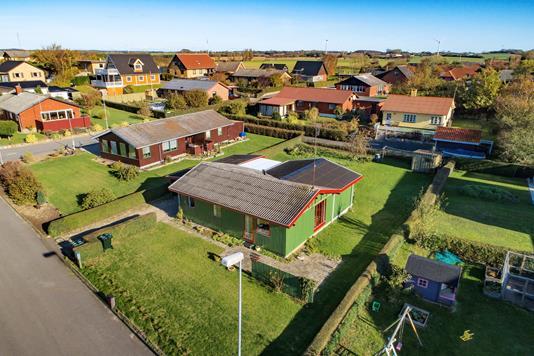 Villa på Kløvervænget i Bagenkop - Luftfoto