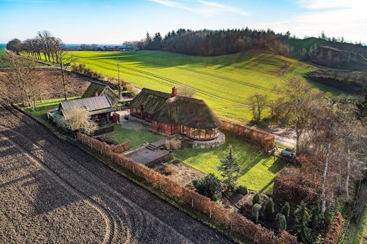 Villa på Haveskovvej i Humble - Luftfoto