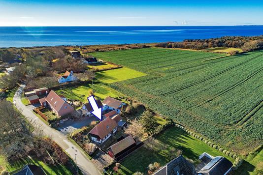 Villa på Sandby i Humble - Luftfoto