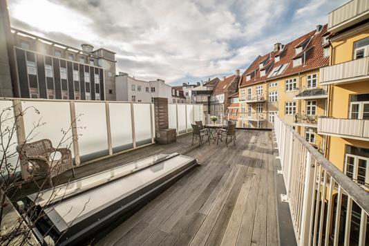 Ejerlejlighed på Nørre Voldgade i København K - Tagterrasse