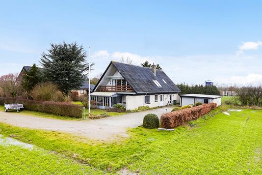 Villa på Lysegårdsvej i Stouby - Mastefoto